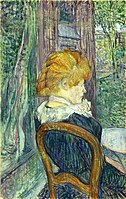 Toulouse-Lautrec - A Woman Seated in a Garden, about 1890.jpg