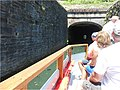 Tour boat approaching the Union Canal Tunnel.jpg
