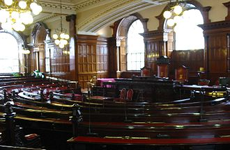 Liverpool Town Hall - Town Hall Liverpool council chamber