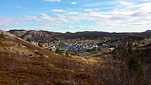 Brigus - Lookout over the town of Brigus, located on the Avalon Peninsula in Newfoundland and Labrador (Canada)
