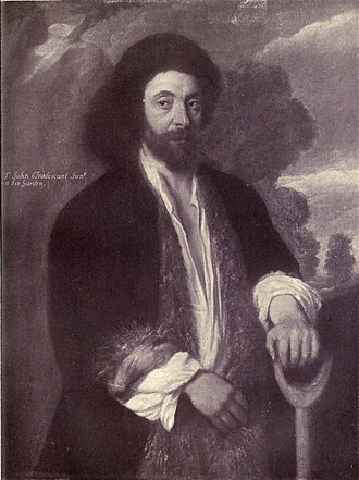 John Tradescant the Younger - Portrait by William Dobson