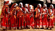 Traditional dress for Garba dance, Navratri festival celebrations.jpg