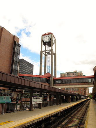 White Plains, New York - White Plains Metro-North Train Station