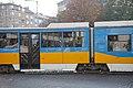Tram in Sofia near Russian monument 079.jpg