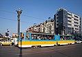 Tram in Sofia near Sofia statue 2012 PD 059.jpg