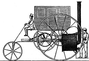 History of steam road vehicles - Trevithick's London Steam Carriage of 1803