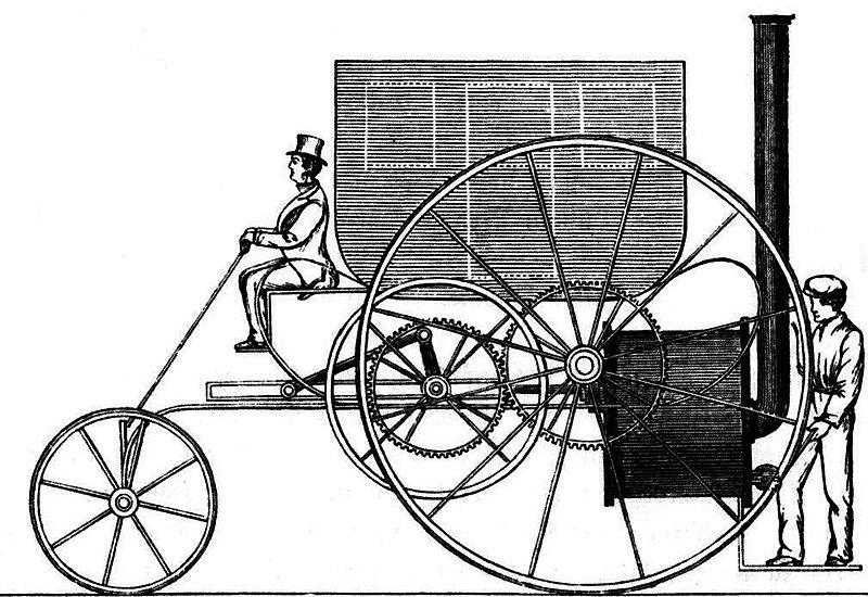 Trevithick's steam car