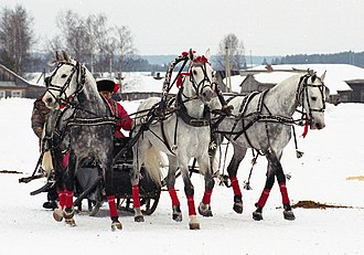Lieutenant Kijé (Prokofiev) - A troika, a traditional Russian sled combination