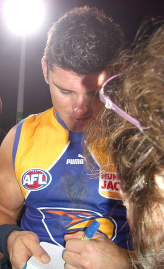 Troy Wilson (Australian rules footballer) - Wilson after the 2008 Chris Mainwaring Tribute Match