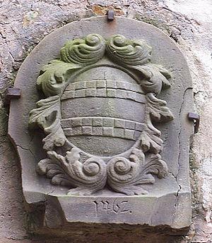 Brennhausen - Truchseß von Brennhausen coat of arms in courtyard