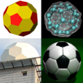 Truncated icosahedron -- 4 pictures.png