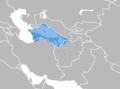 Turkmen language map.png