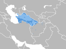 Turkmen language map.png