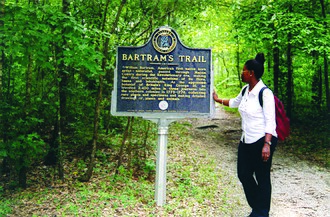 Tuskegee National Forest - Visitor on Bartram's Trail, Tuskegee National Forest, July 2015