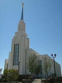 Twin Falls Temple during public Open House event, 15 August 2007.