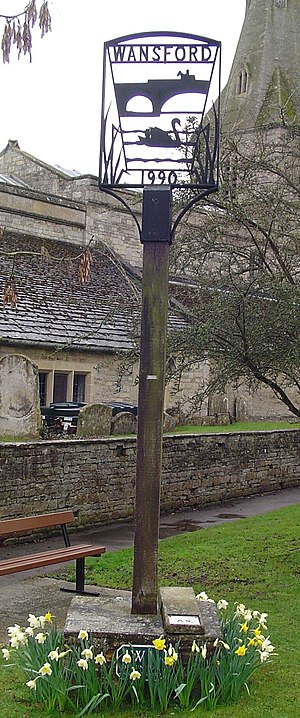 Wansford, Cambridgeshire - Signpost in Wansford