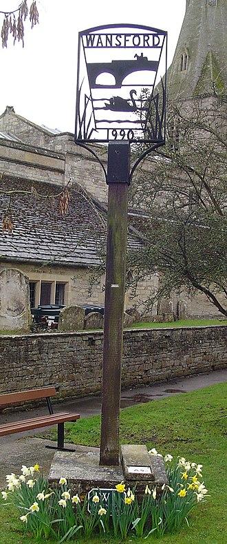 Wansford, Cambridgeshire - Signpost in Wansford