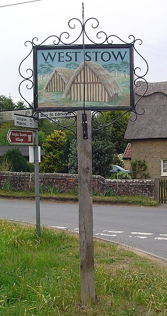 West Stow - Signpost in West Stow
