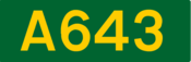 A643 road shield
