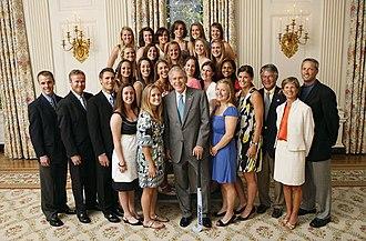 North Carolina Tar Heels - 2007 field hockey team with President George W. Bush