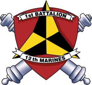 1st Battalion, 12th Marines - 1/12 Insignia