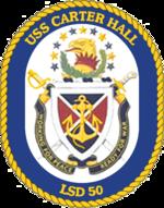 USS Carter Hall LSD-50 Crest.png