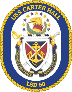 USS Carter Hall (LSD-50) - Image: USS Carter Hall LSD 50 Crest