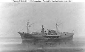 USS Connecticut (1861) - Image: USS Connecticut (1861 1865)