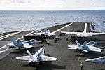 USS Dwight D. Eisenhower conducts flight operations. (32678434991).jpg