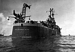 USS Oklahoma City (CL-91) stern with SC Seahawks c1945.jpg