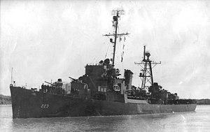 USS Spangenberg (DE-223) underway, circa in late 1945