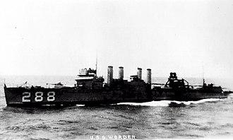 USS Worden (DD-288) - Image: USS Worden