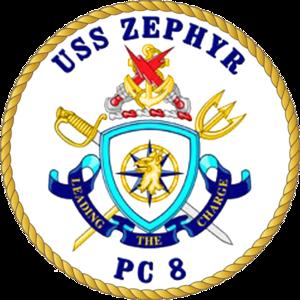 USS Zephyr - Image: USS Zephyr PC 8 Crest