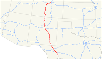 U.S. Route 285 - Image: US 285 map
