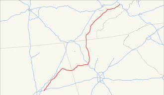 U.S. Route 411 - Image: US 411 map