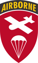 Airborne Command SSI, worn by classified units—such as the Army's new special forces groups— from 1952–1955