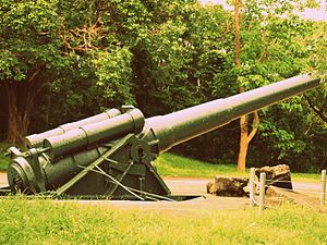 12-inch gun M1895 - M1895 12-inch gun on M1917 long-range high-angle barbette carriage, Corregidor, 2012