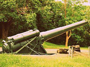 12-inch gun M1895 - M1895 12-inch gun on M1917 long-range high-angle barbette carriage, Corregidor, 2012
