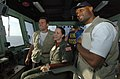US Navy 050212-N-8629M-160 Lt. Allison Johnson, center, poses with New York Giants quarterback Kurt Warner, left, and wide receiver Amani Toomer during their visit aboard the Military Sealift Command (MSC) hospital ship USNS Me.jpg