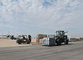 US Navy 051027-N-4615G-066 U.S. Military personnel use forklifts to stage pallets of relief supplies on board Naval Air Station Joint Reserve Base (NAS JRB) Fort Worth.jpg