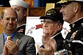 US Navy 070323-N-3642E-498 U.S. Navy veteran Paul E. Baker, center, receives applause after receiving a Bronze Star with Combat.jpg