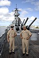 US Navy 080611-N-9818V-060 Master Chief Petty Officer of the Navy (MCPON) Joe R. Campa Jr. tours the Battleship Missouri Memorial on Ford Island with Naval Station Pearl Harbor.jpg