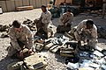 US Navy 081110-M-6159T-003 Hospital Corpsmen prepare their field medical bags.jpg