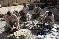 US Navy 081110-M-6159T-003 Hospital Corpsmen prepare their field medical bags.jpg