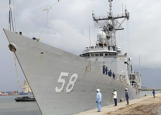 Pointe-Noire - USS Samuel B. Roberts (FFG-58) visiting the Port of Pointe Noire