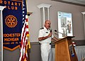 US Navy 110719-N-VO219-002 Cmdr. Richard Simpson, executive officer of Navy Recruiting District Michigan, delivers remarks to the Rochester Rotary.jpg