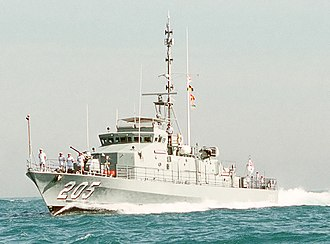 Fremantle-class patrol boat - Image: US Navy DN ST 90 08224 HMAS Townsville (FCPB 205) cropped