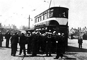 Edinburgh Corporation Tramways - An Edinburgh Standard tram in 1947.