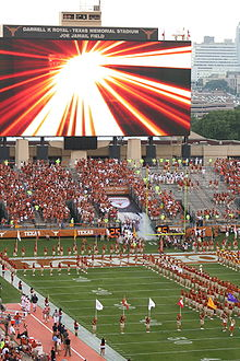 The 2008 Longhorns Take Field On Opening Day Texas Longhorn Football