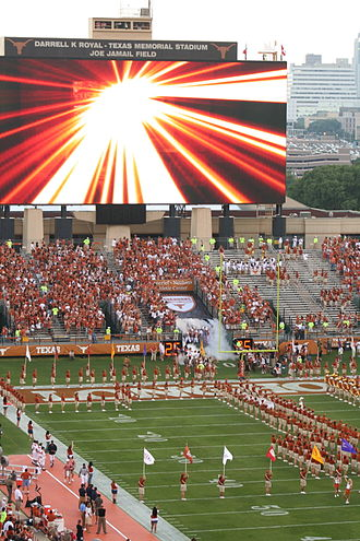 2008 Texas Longhorns football team - The 2008 Longhorns take the field on opening day.